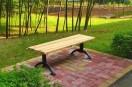 西湖公园新型无靠背椅 只为让游人更方便