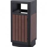 户外环保钢木垃圾箱