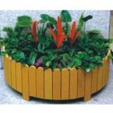 街道绿化木制花箱