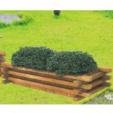 户外广场绿化木制花箱