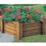 公园组合式木制花箱