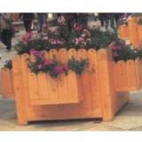 步行街木制花箱