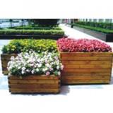 绿化带木制花箱