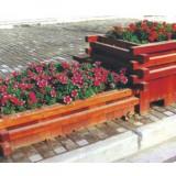 城市景观木制花箱