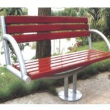 单脚双人座有靠背休闲椅