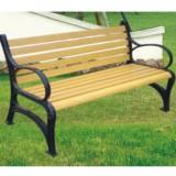 社区庭院有靠背休闲椅