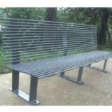 不锈钢有靠背园林椅