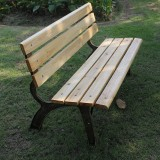 经典实木景区公园椅