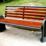 U形底座户外公园椅