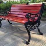 户外原木公园长椅
