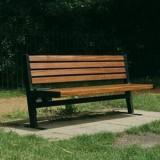 户外实木公园长椅