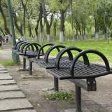 户外公园双人座长椅