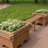 园林景观塑木花箱