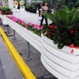 站台隔离护栏PVC花箱