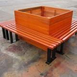 防腐木户外围树椅
