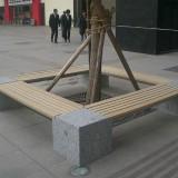 社区户外围树椅