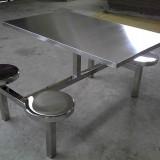 食堂不锈钢排椅