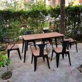 园林景区户外实木休闲桌椅
