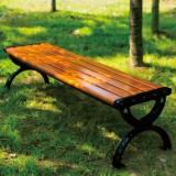 户外铸铁防腐实木休闲椅