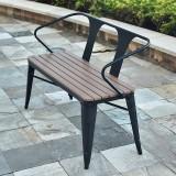公园防腐塑木排椅子休闲椅