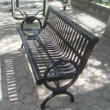 公园户外烤漆不锈钢休闲椅