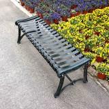 无靠背户外钢制休闲椅