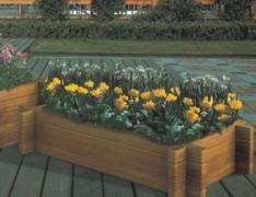 街道组合式木制花箱