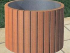 圆形景区木制花箱