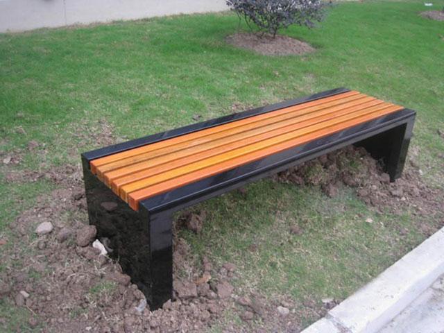 欣方圳园林椅为广东梅州安装休闲椅