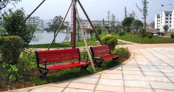 廣東戶外公園塑木休閑椅