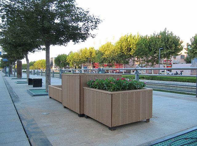 绿化带塑木花箱